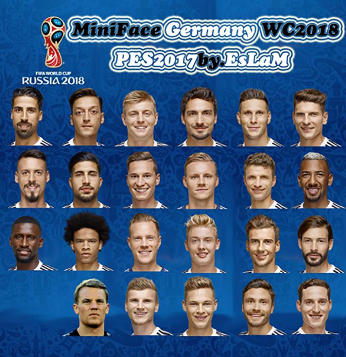 مینی فیس آلمان جام جهانی 2018 برای PES 2017