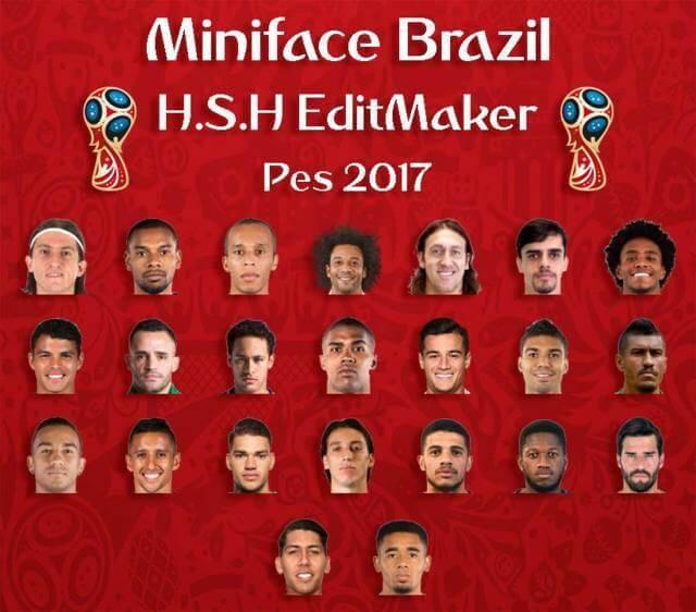 دانلود مینی فیس پک برزیل برای PES 2017 در جام جهانی