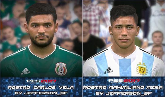 دانلود فیس Carlos Vela و Meza برای PES 2017