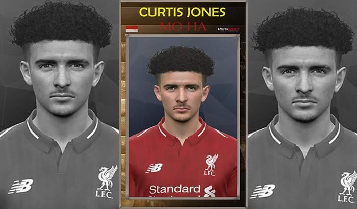 فیس Curtis Jones برای PES 2017 (بازیکن لیورپول) توسط Mo Ha
