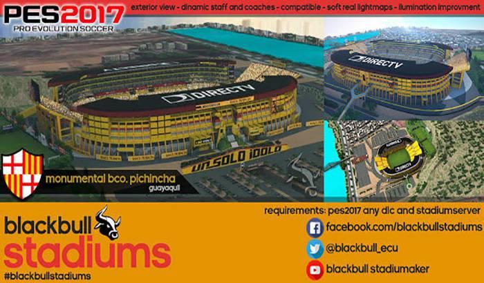 استادیوم Monumental با نمای بیرونی برای PES 2017
