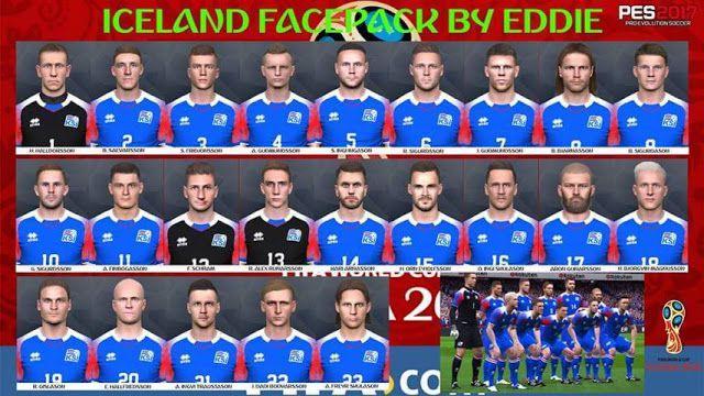 فیس پک ایسلند در جام جهانی برای PES 2017