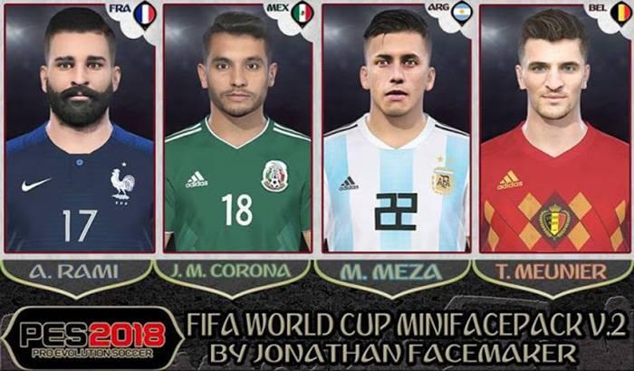مینی فیس پک جام جهانی V2 برای PES 2018 توسط Jonathan