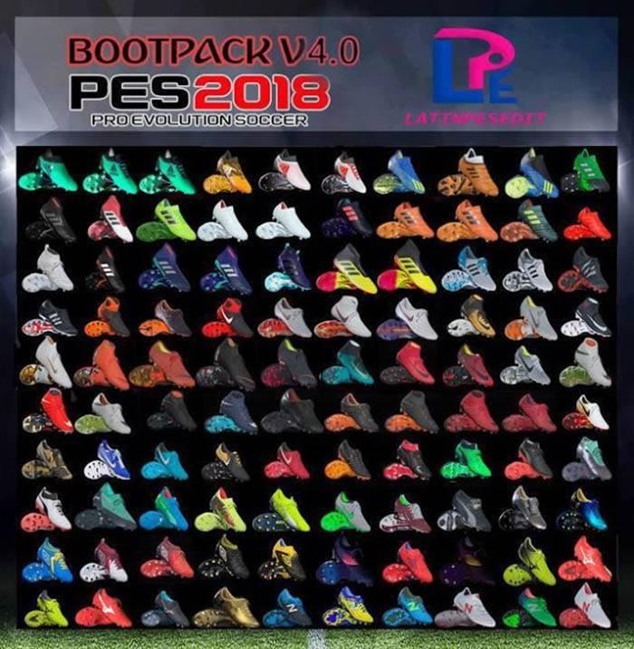 دانلود Bootpack V4.0 برای PES 2018 فصل 18/19