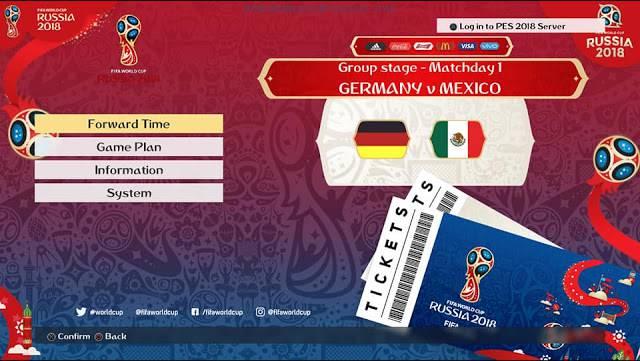 فول تم گرافیکی جام جهانی برای PES 2018