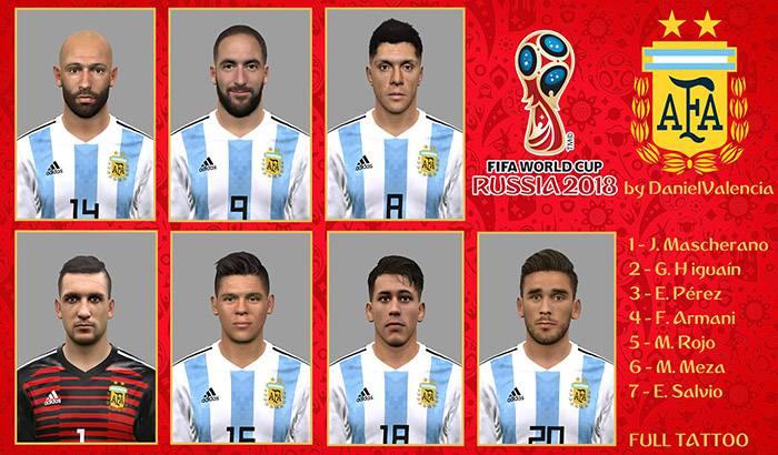 فیس پک آرژانتین در جام جهانی 2018 برای PES 2017