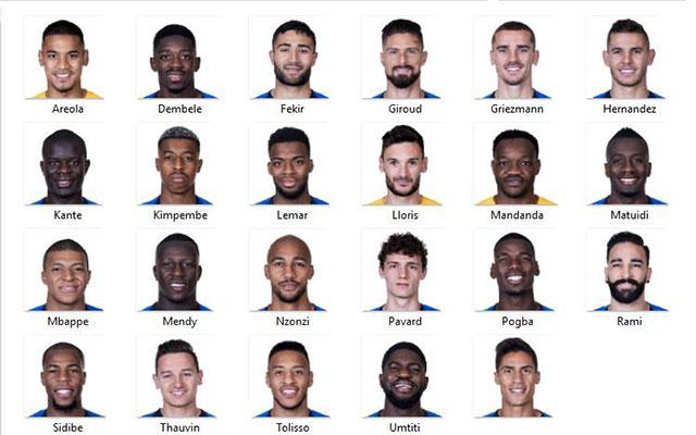 دانلود مینی فیس کامل فرانسه برای FIFA14/15/16