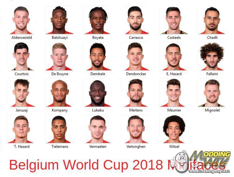 دانلود مینی فیس کامل بلژیک برای FIFA14/15/16