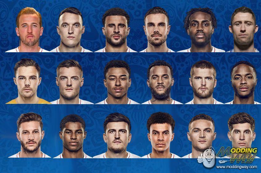 دانلود مینی فیس تیم انگلیس در جام جهانی برای FIFA14