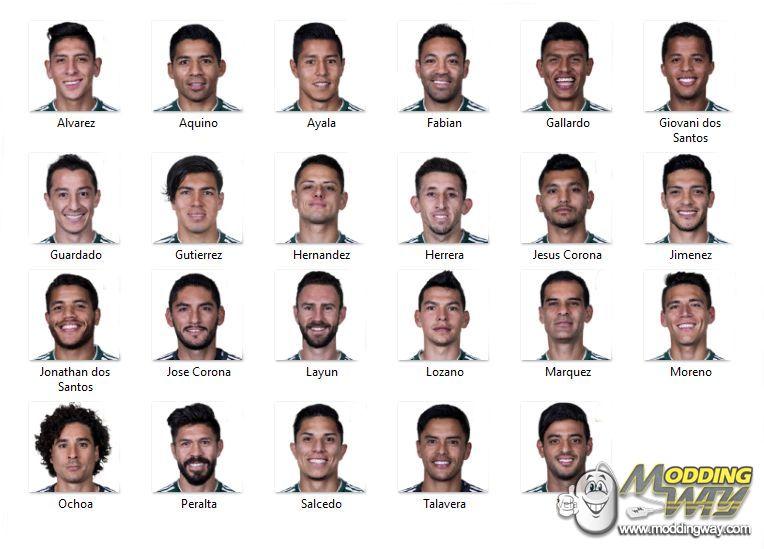 دانلود مینی فیس کامل مکزیک برای FIFA14/15/16