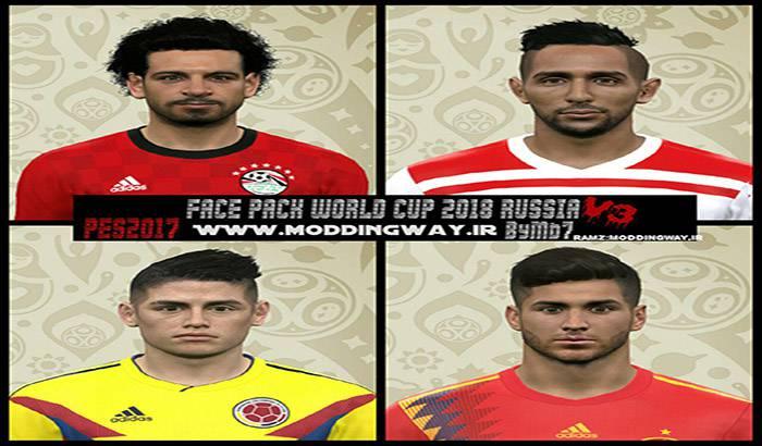 مینی فیس پک جام جهانی برای PES 2017 توسط Mehrab7