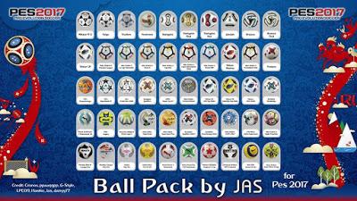 دانلود Ballpack V2 فصل 18/19 برای PES 2017 توسط JAS
