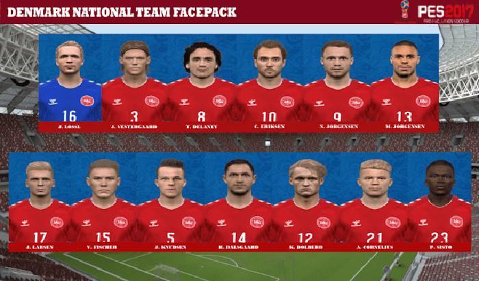 فیس پک دانمارک برای PES 2017 (جام جهانی 2018)