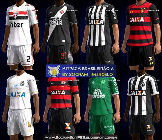 دانلود کیت پک لیگ برزیل فصل 2018/2019 برای PES 2013