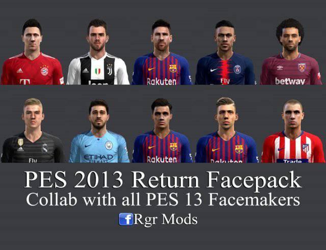 دانلود فیس پک Return Facepack 2018 برای PES 2013