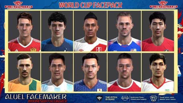 فیس پک جام جهانی 2018 برای PES 2013 توسط