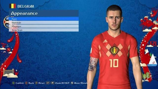 فیس Eden Hazard V.3 جام جهانی برای PES 2017