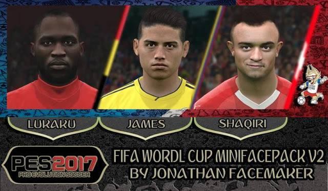 مینی فیس پک جام جهانی V2 برای PES 2017 توسط Jonathan
