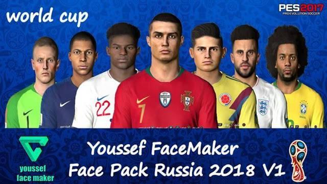 فیس پک جام جهانی V1 برای PES 2017 توسط Youssef Facemaker