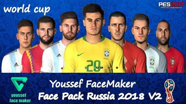 فیس پک جام جهانی V2 برای PES 2017 توسط Youssef Facemaker