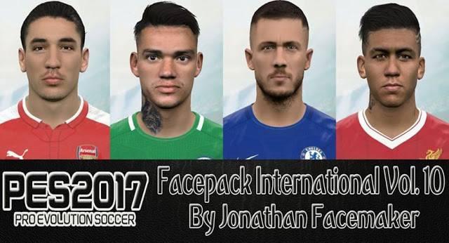 دانلود فیس پک International Vol. 10 برای PES 2017 توسط Jonathan