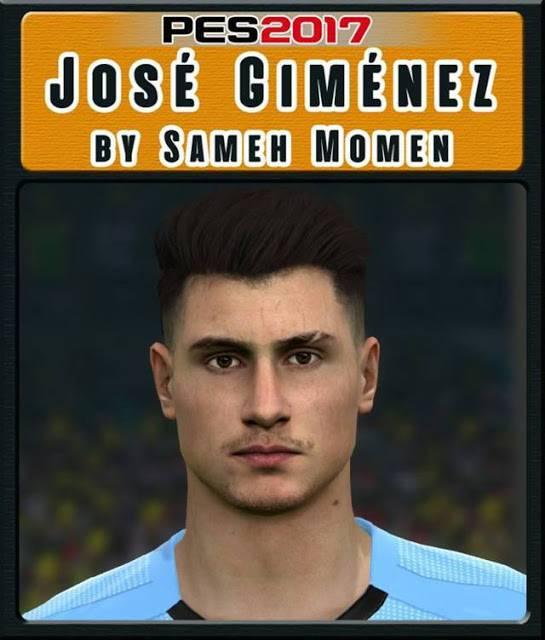 فیس Jose Gimenez برای PES 2017 (مخصوص جام جهانی)