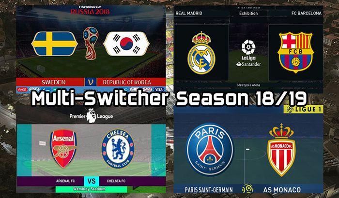 دانلود Multi-Switcher فصل 2018/2019 برای PES 2017