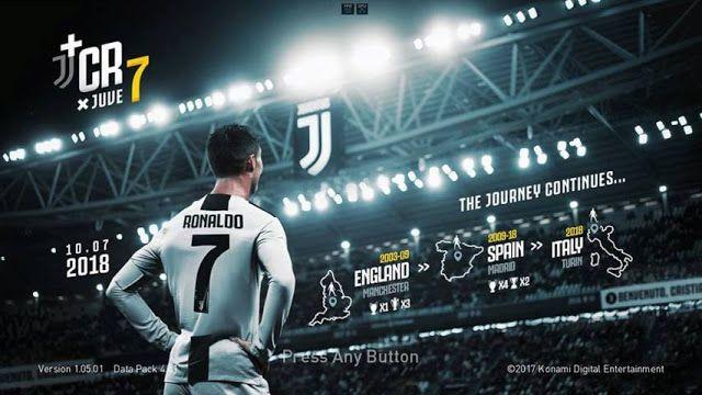 دانلود تایتل Ronaldo Juventus برای PES 2018 / PES 2017