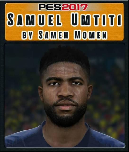 فیس Samuel Umtiti برای PES 2017 توسط Sameh Momen
