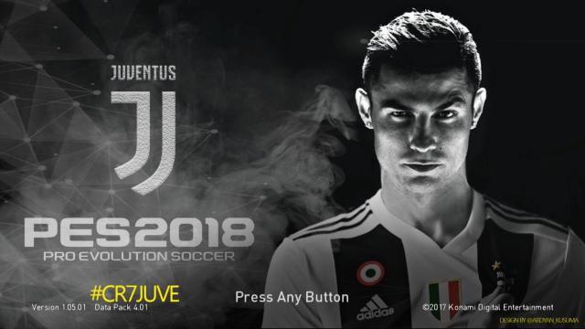 دانلود استارت اسکرین CR7 Juventus برای PES 2017 / PES 2018