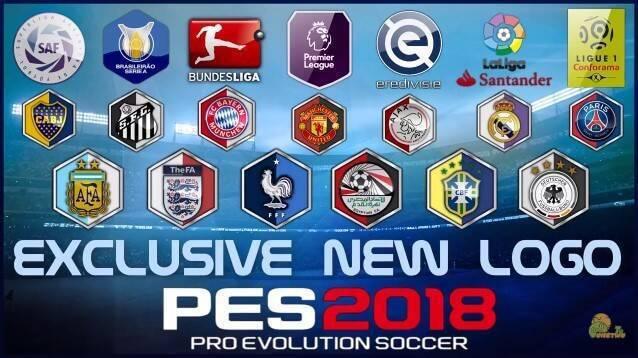 طرح لوگو جدید تیم های ملی و باشگاهی برای PES 2018