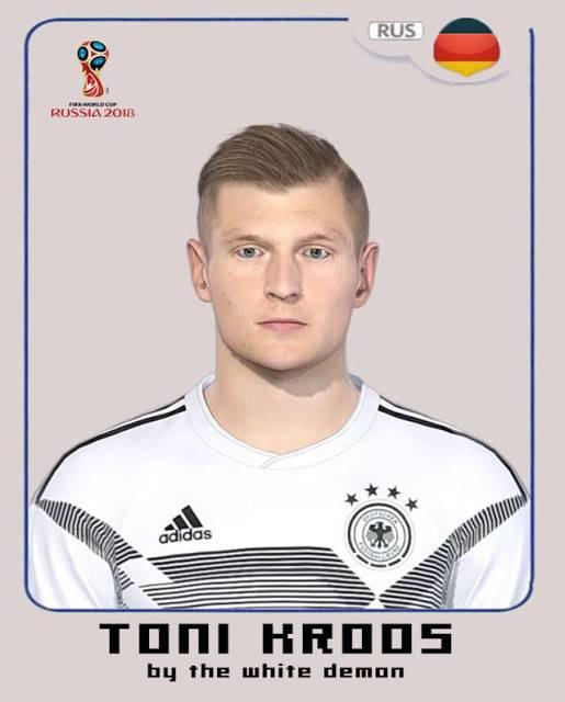 دانلود فیس Toni Kroos برای PES 2018 (مدل جام جهانی)