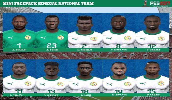 فیس پک تیم ملی سنگال برای PES 2017