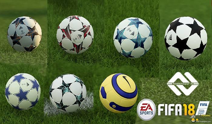 دانلود پک توپ لیگ قهرمانان اروپا برای FIFA 18