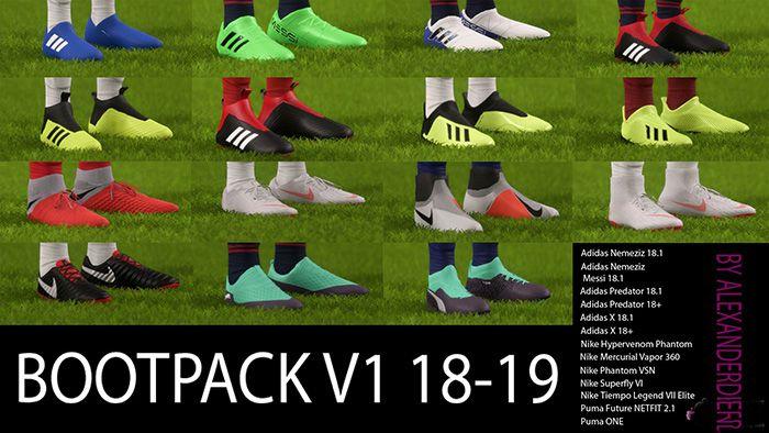 دانلود پک کفش 18/19 برای FIFA 18 توسط Alexanderdrg