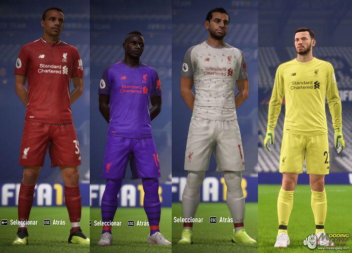 فول کیت پک لیورپول 2018/2019 برای FIFA 18