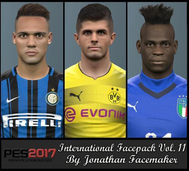 فیس پک International Vol 11 برای PES 2017 توسط Jonathan