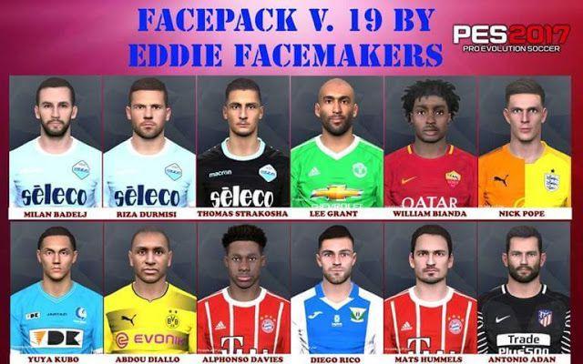 دانلود فیس پک V.19 برای PES 2017 توسط Eddie Facemakers