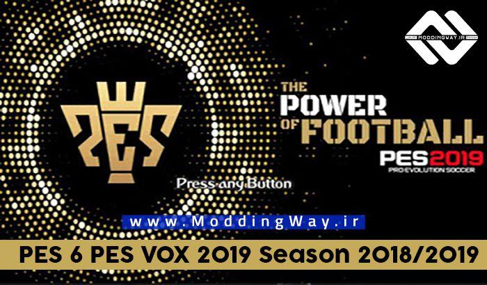 دانلود پچ PES VoX 2019 برای PES 6 (فصل 2018/2019)