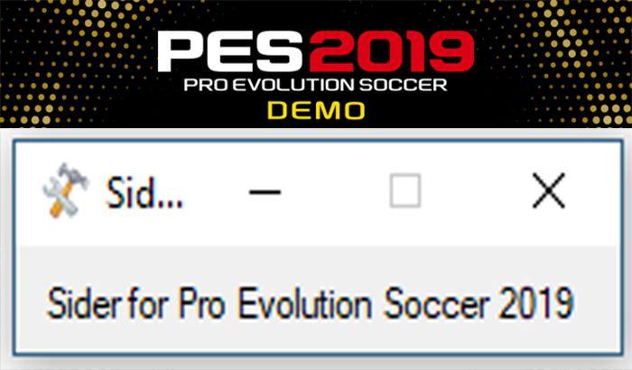 دانلود Sider 5.0.0 برای PES 2019 Demo (قابلیت تغییر تایم اجرای بازی تا 255 دقیقه)