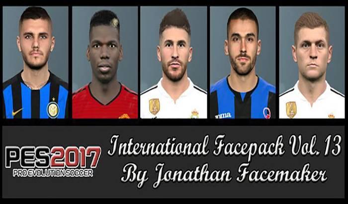 دانلود فیس پک International Vol. 13 برای PES 2017 توسط Jonathan