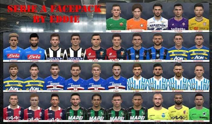 دانلود مگافیس پک لیگ ایتالیا برای PES 2017 توسط Eddie Facemakers