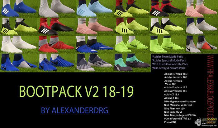 دانلود آپدیت پک کفش 2018/2019 برای FIFA 18 (ورژن 2 اضافه شد)