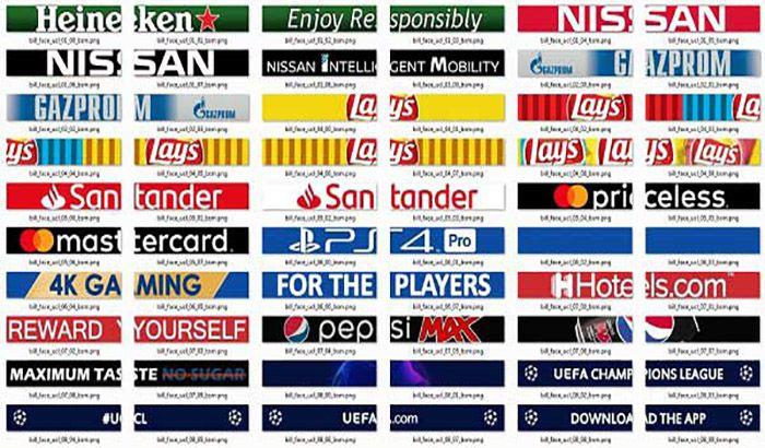 پک ادبورد لیگ قهرمانان اروپا 2019 برای PES 2019 (نسخه دینامیک)