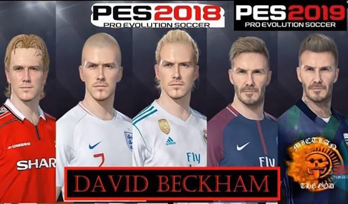 دانلود فیس پک دیوید بکهام برای PES 2019 و PES 2018