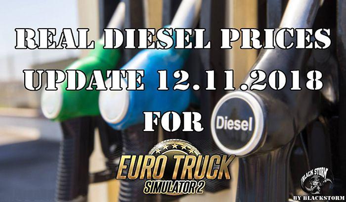 دانلود مود قیمت واقعی سوخت دیزل در Euro Truck 2