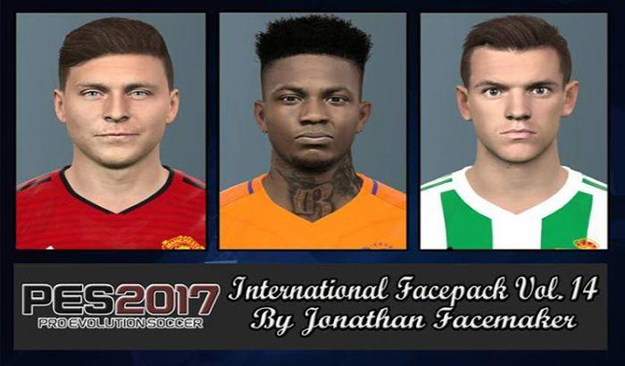 دانلود فیس پک International Vol. 14 برای PES 2017 توسط Jonathan