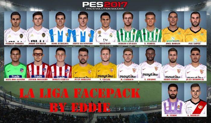 دانلود فیس پک لالیگا V2 برای PES 2017 فصل 18/19