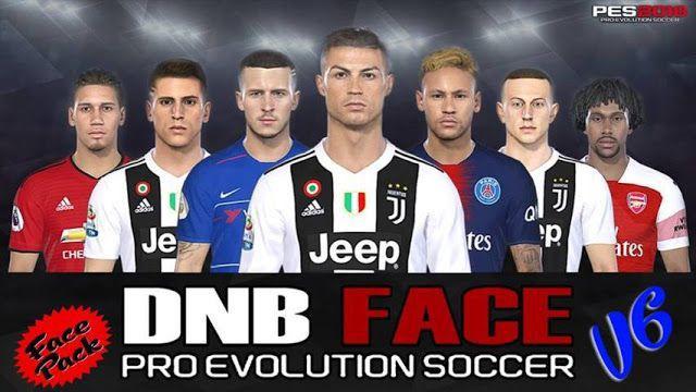 دانلود فیس پک V6 برای PES 2018 (فصل 18/19) توسط DNB Face