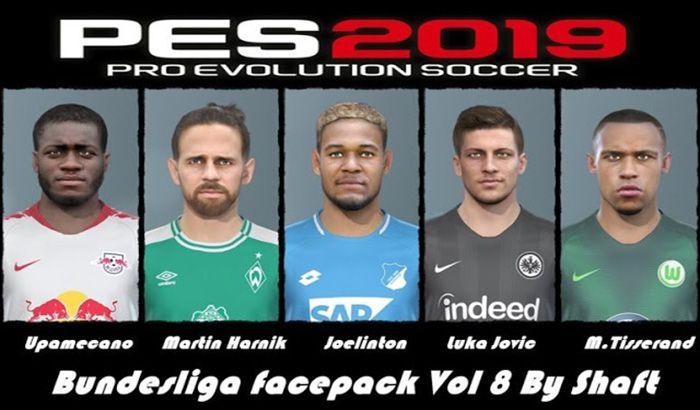 دانلود فیس پک بوندسلیگا Bundesliga Vol. 8 برای PES 2019